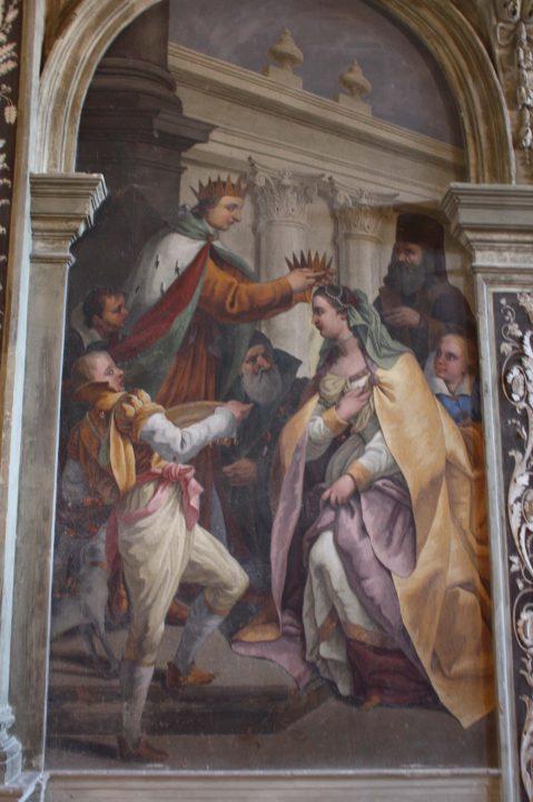 the Crowning of Caterina Cornaro, fresco in the palazzo Corner, Venice