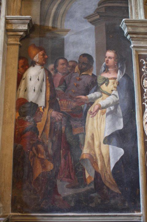 Doge Barbarigo and Caterina Cornaro, fresco in the palazzo Corner in Venice