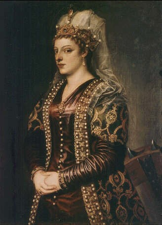 Portrait of Caterina Corner, Titian, 1542, Florence Uffici from https://www.uffizifirenze.it/ritratto-di-caterina-cornaro.html