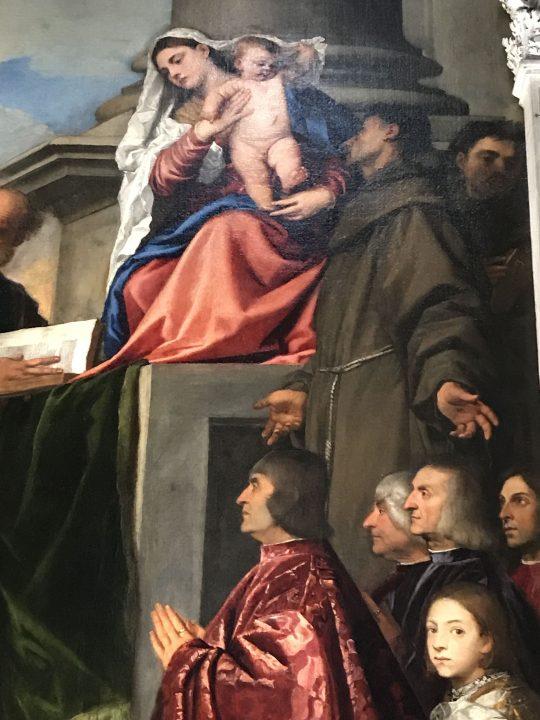 Pesaro Madonna, detail (fonte Wikicommons, public domain)