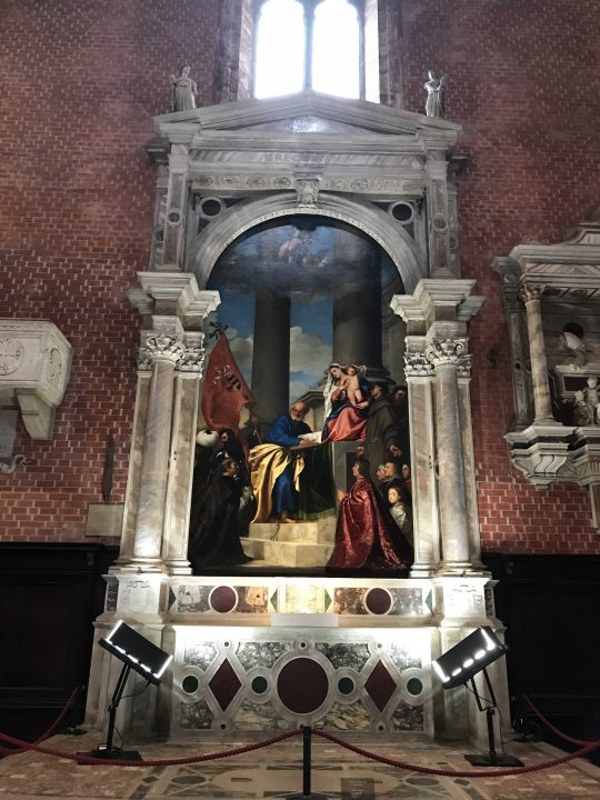 Altar of the Immaculate Conception and Pesaro Madonna