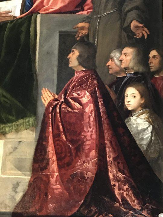 Titian, Pesaro Madonna, detail