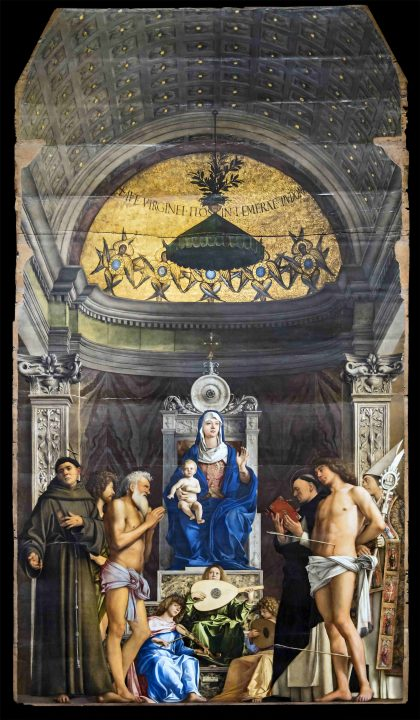 Giovanni Bellini, San Giobbe Madonna, 1478 ca (fonte Wikimedia commons, public domain, web gallery of art)
