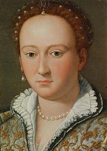 Alessandro Allori, Portrait de Bianca Cappello, 1572, Gallerie degli Uffizi, Florence