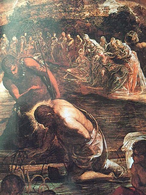 Venise, Scuola Grande San Rocco, Tintoret, Bapteme du Christ,