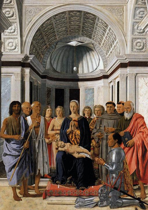 Piero della Francesca, Pala di Brera, 1472 (fonte Wikimedia commons, public domain, www.wga.hu)