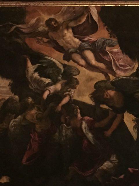 Venise, Scuola Grande San Rocco, Tintoret, Résurrection