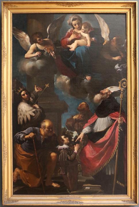Guercino, Vergine Santi e donatore, 1616 (fonte Wikimedia commons, own work, Sailko)