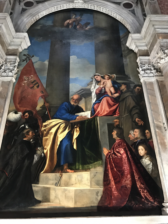 Chiesa dei Frari, Tiziano, Pala Pesaro, 1519-26