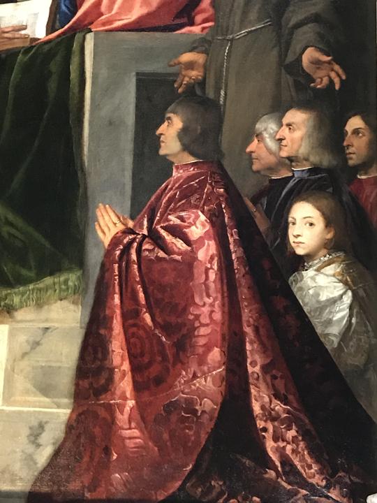 Tiziano, Pala Pesaro Particolare