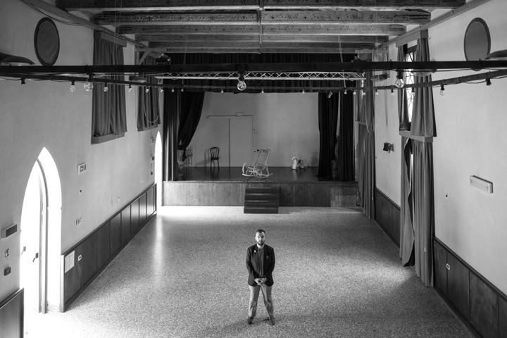 Mattia Berto nel Teatrino Groggia di Venezia