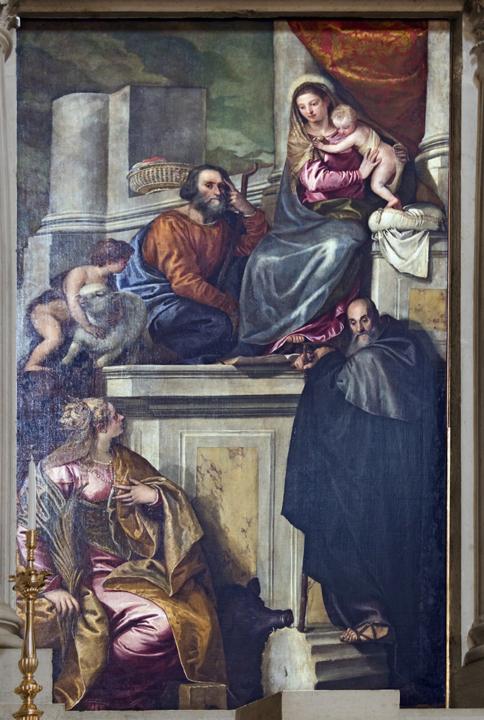 Paolo Veronese, Santa Caterina in trono, 1551 (fonte Wikimedia commons, public domain, Didier Descouens)