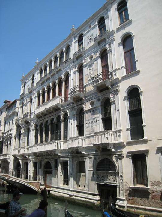Palais Cappello Trevisan, Venise, derrière Piace Saint Marc donnant sur le Rio della Canonica