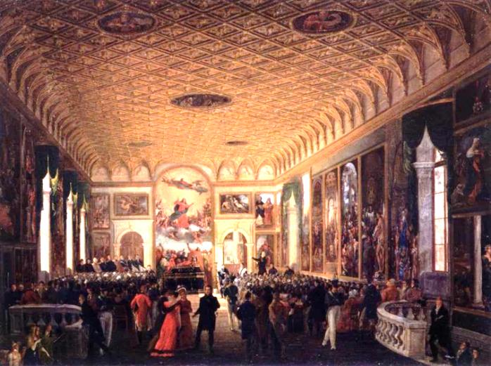 Giuseppe Borsato, Commemorazione di Canova, 1824, Venezia, Galleria Internazionale d'Arte Moderna di Ca' Pesaro