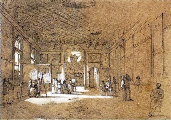 François Vervloet, Sala di Tiziano all'Accademia, Venezia, Gabinetto Stampe e Disegni del Museo Correr, inv. CI. III n.6804