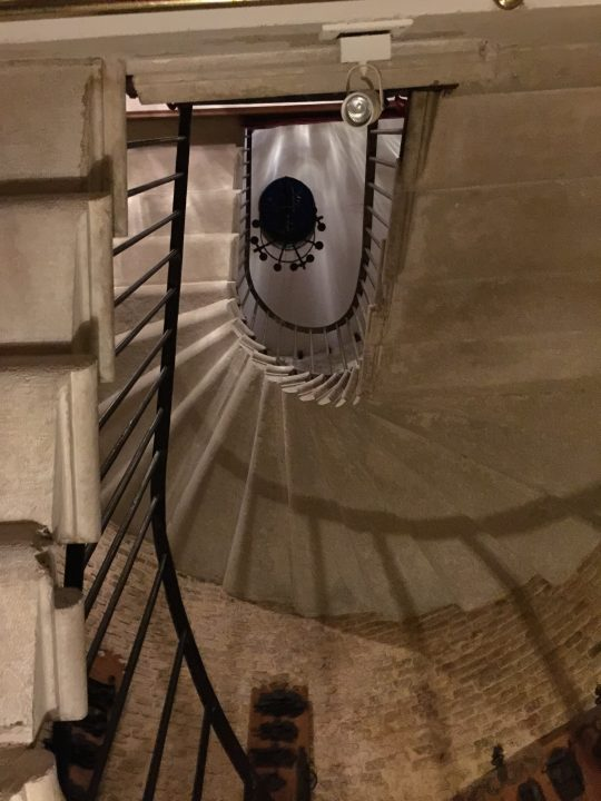 Spiral staircase part of the old Pietà complex, now part of Hotel Metropole