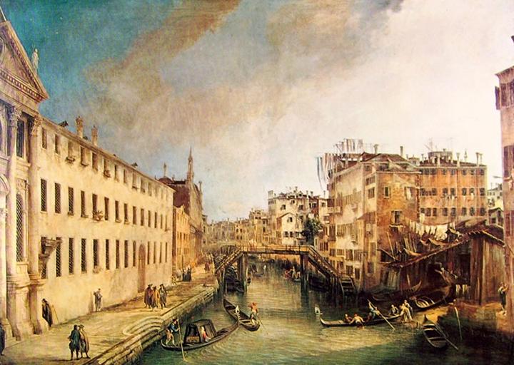 Canaletto, Rio dei Mendicanti, Museo di Ca' Rezzonico, Venezia