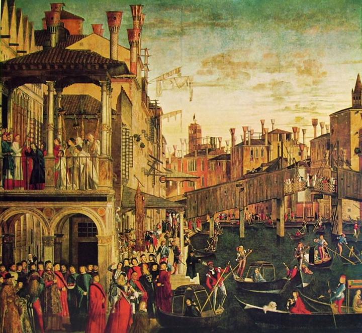 Vittore Carpaccio, Ponte di Rialto, Gallerie dell'Accademia, Venezia