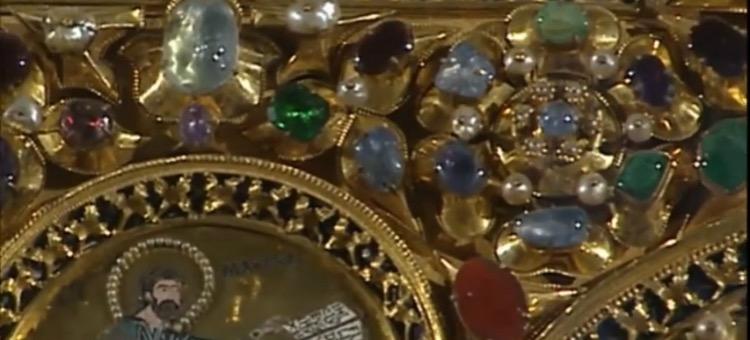Pietre preziose della Pala d'Oro, particolare, Basilica di San Marco, Venezia