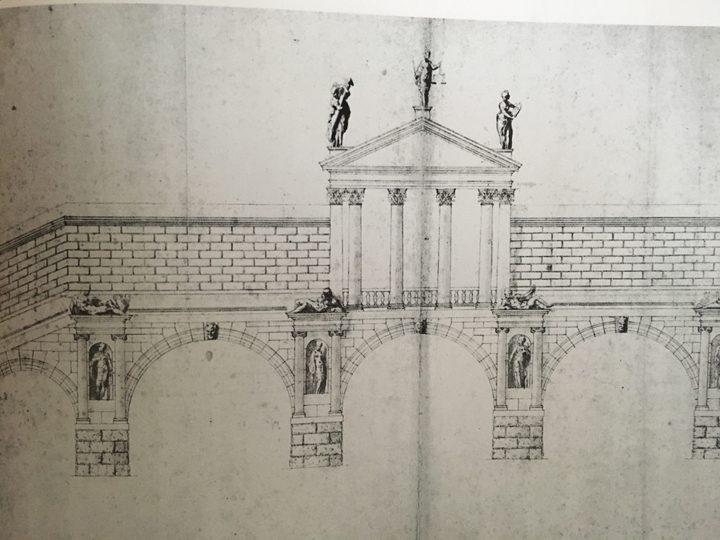 Andrea Palladio, Progetto per la costruzione del ponte di Rialto a cinque arcate, Vicenza, Museo Civico