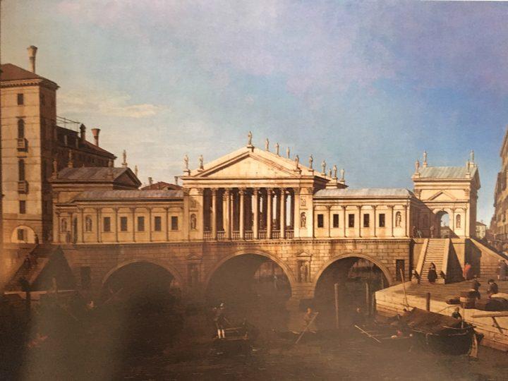 Canaletto, Capriccio, dettaglio, Galleria Nazionale di Parma