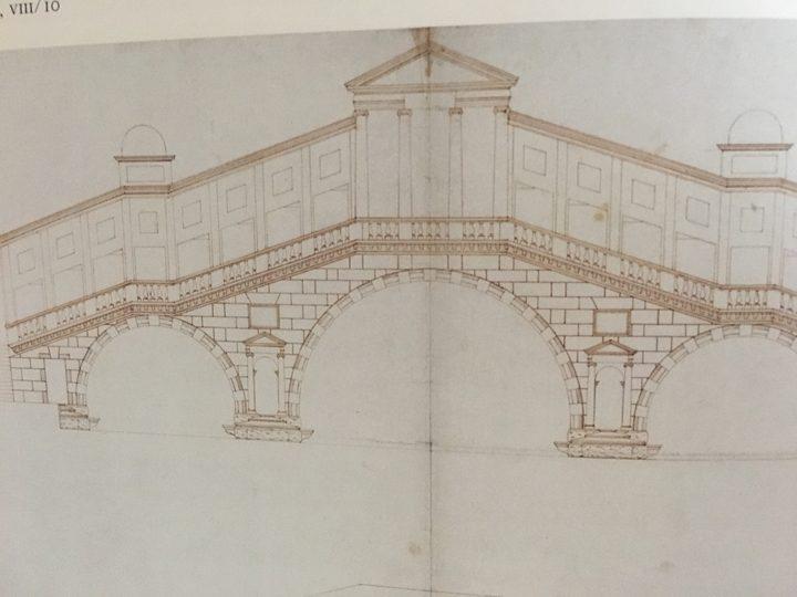 Vincenzo Scamozzi, three-arched Rialto bridge, London, Royal Institute of British Architechts
