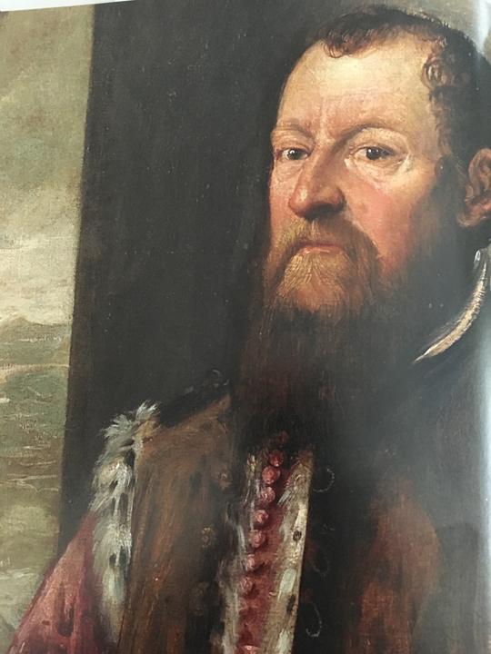 Marco Antonio Barbaro, Ambasciatore di Venezia a Parigi e Costantinopoli, Procuratore di San Marco, dettaglio, Innsbruck, Schloß Ambras