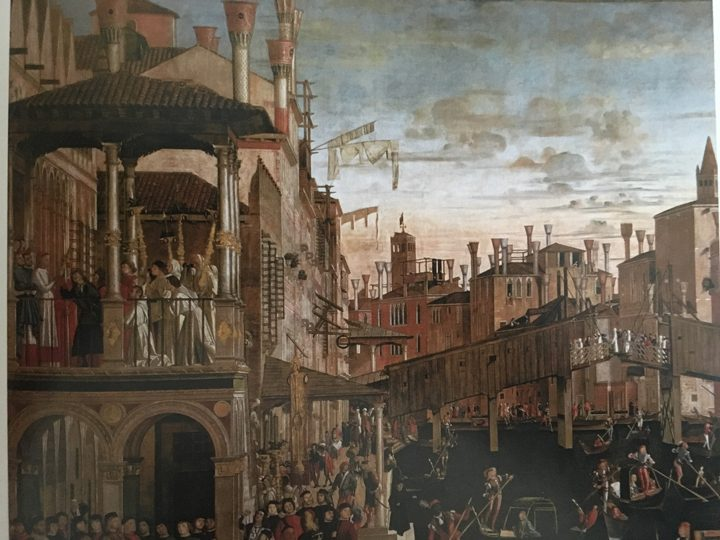 Vittore Carpaccio, The Rialto bridge, Gallerie dell'Accademia, Venice