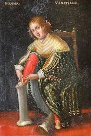 Le dame veneziane con i loro calcagnetti