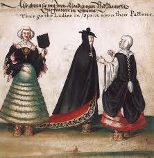 Dame veneziane che indossano i calcagnetti