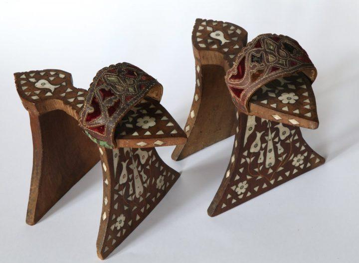 I calcagnetti decorati in madreperla