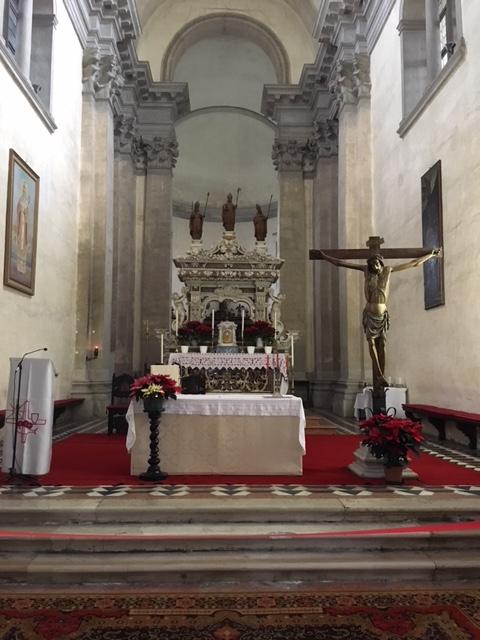 Интерьер церкви св.Николая на Лидо.