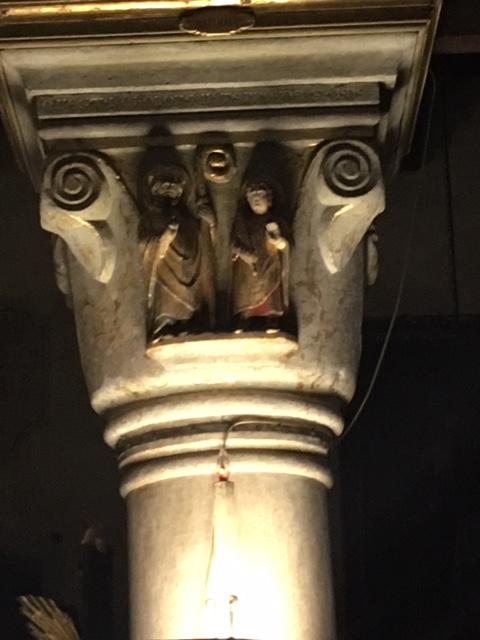 Деталь с изображением св. Николая и святого Никиты анонимного скульптора XIV века.