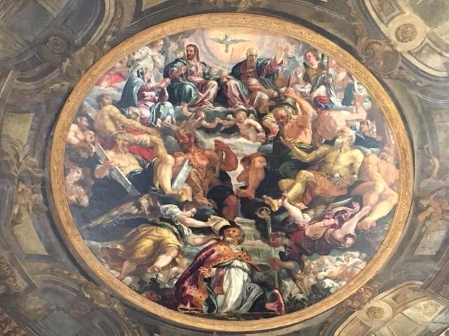 Франческо Монтемедзано, Святой Николай в небесной славе.