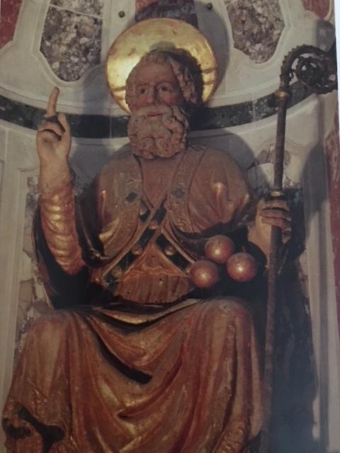 Святой Николай работа XV века в стиле Вартоломео Бона.
