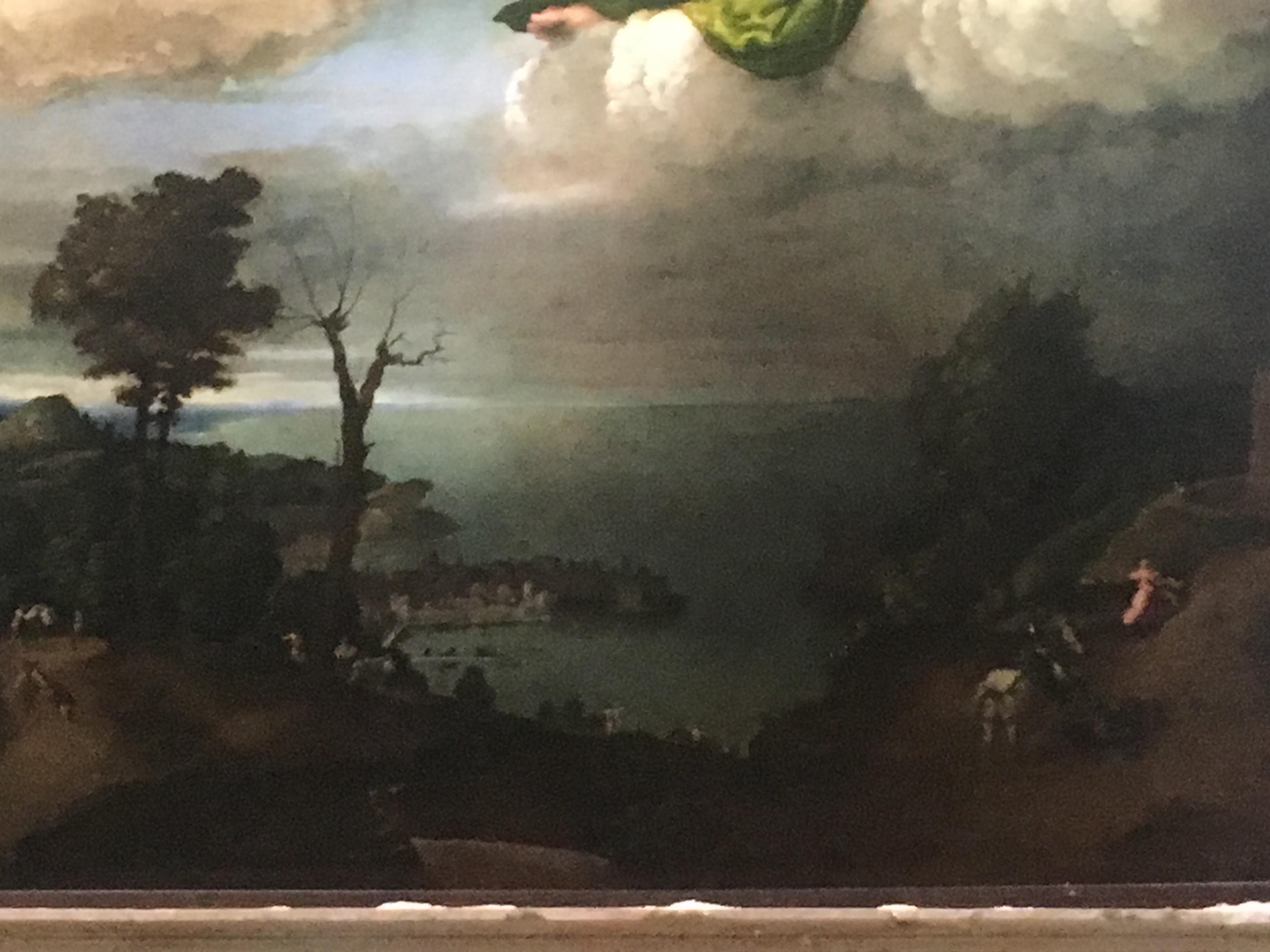 Деталь с изображением святого Георгия Победоносца из картины Лотто.