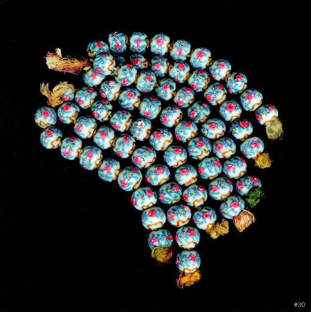 Museo del Vetro di Murano, dettaglio delle perle. Foto di Augusto Panini