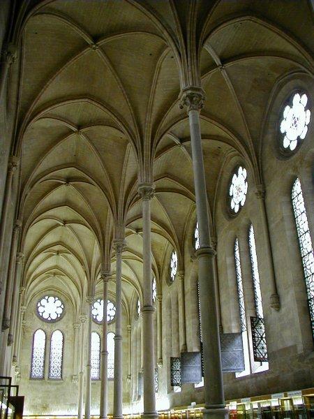 Parigi, Interno del refettorio di St Martin Des Champs (arch. Pierre de Montreuil)