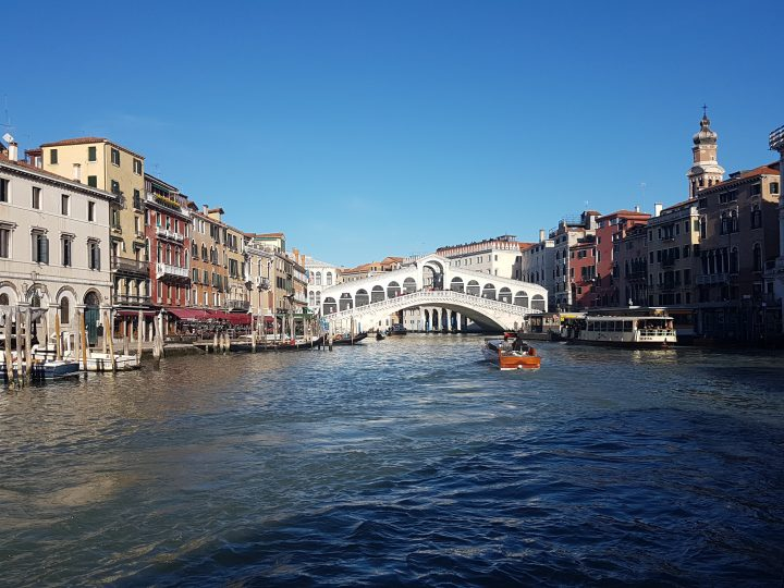 The Rialto bridge and Grand Canal