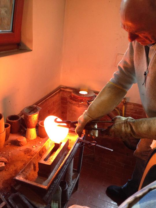 La produzione del lingotto in oro, Venezia