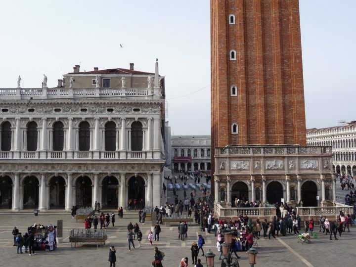 Venice, Saint Mark's Square, Marciana Library and Loggetta