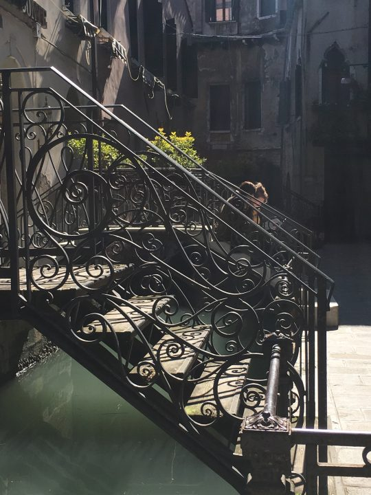 Venetian bridge's railing