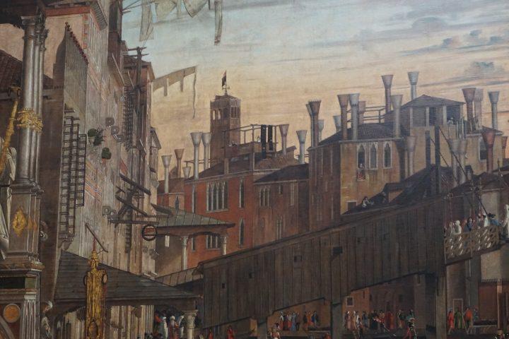 Vittore Carpaccio, Miracolo della reliquia della croce al ponte di Rialto, dettaglio, Gallerie dell'Accademia, Venezia