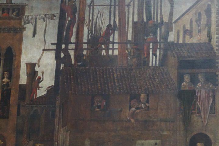 Giovanni Mansueti, Miracolo della reliquia della croce in Campo San Lio, dettaglio, Gallerie dell'Accademia, Venezia