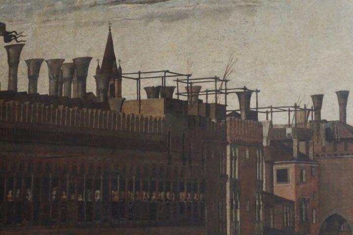 Gentile Bellini, Processione in Piazza San Marco, dettaglio, Gallerie dell'Accademia, Venezia