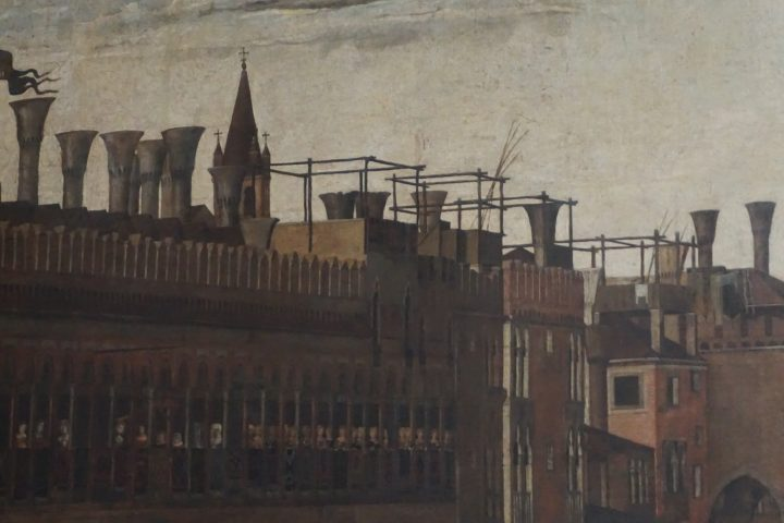 Gentile Bellini, Procession in St. Mark's square, detail, Accademia Galleries, Venice