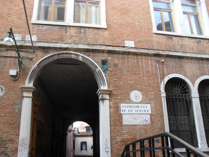 Fondamenta delle scuole, zona dove si trovava il Teatro San Samuele, Venezia