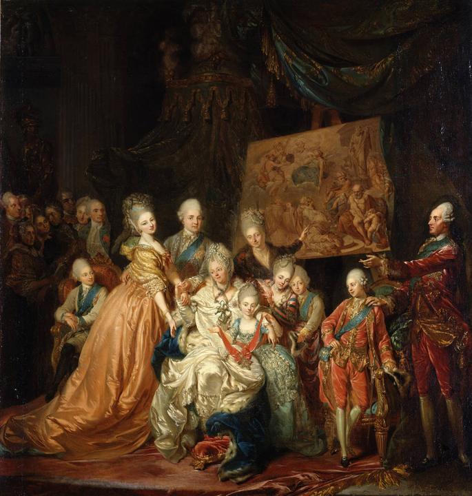 L'Elettore di Sassonia con la famiglia nel 1772, Gemaelde Galerie Alte Meister, Dresda