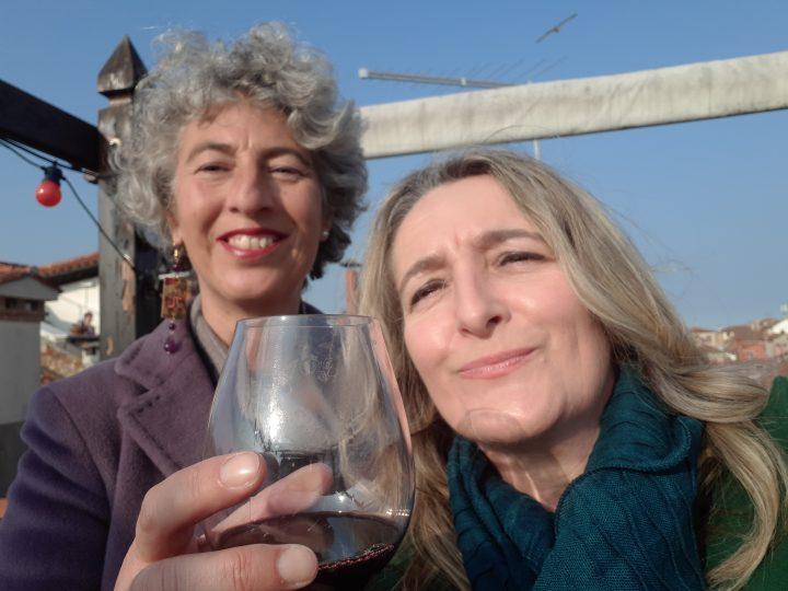 Martina and I on the altana
