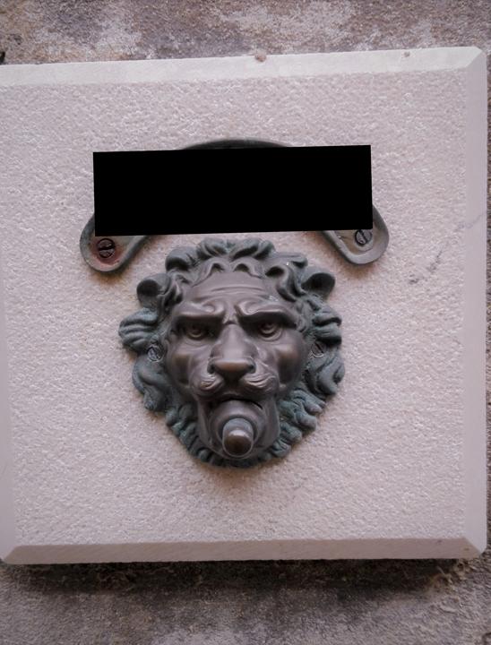 Campanello con leone in bronzo, Venezia